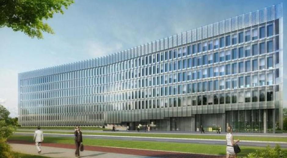 Projekt biurowy JEMS Architekci niedaleko warszawskiego lotniska