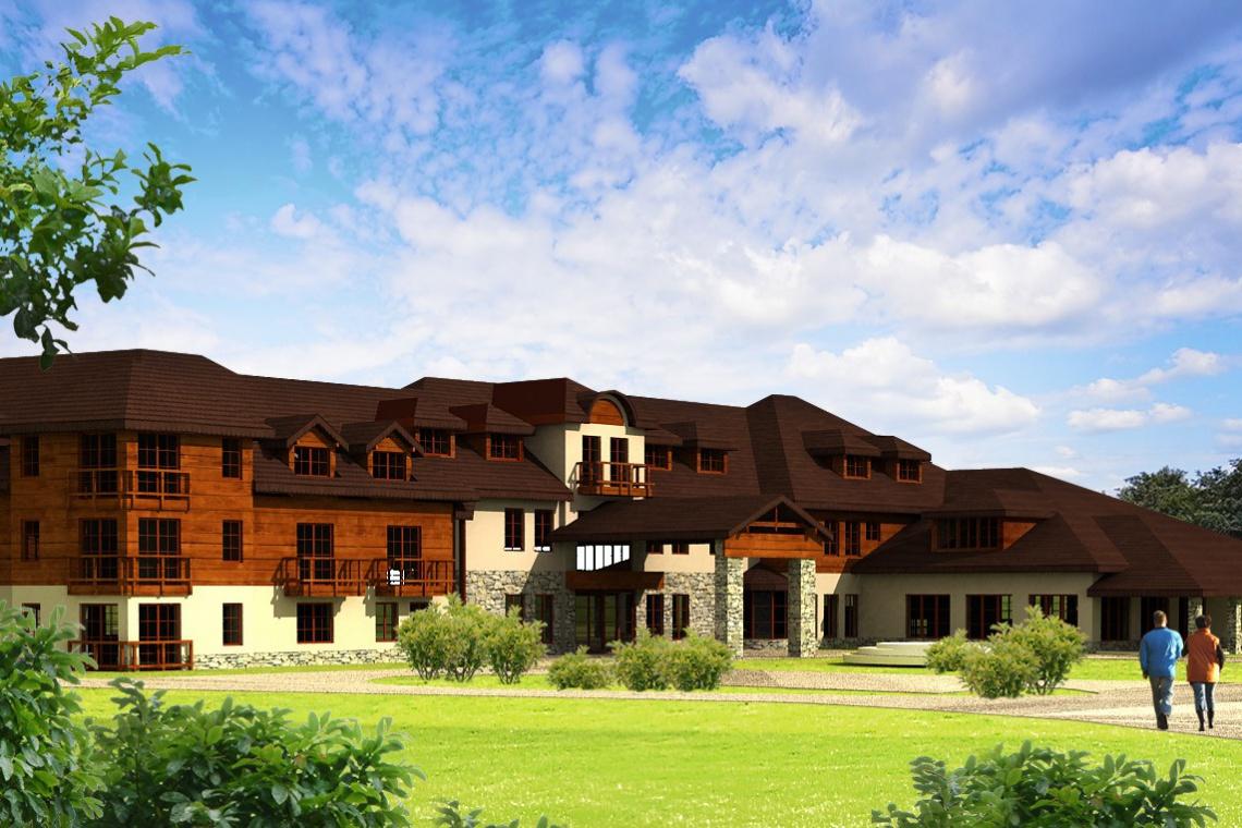 Tradycyjna architektura w Rybniki Park Medical Spa