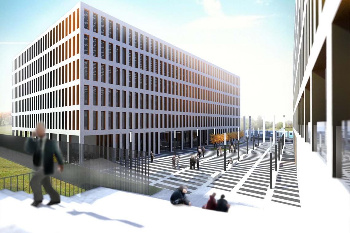 APA Hubka pracuje nad koncepcją Otis Office Center