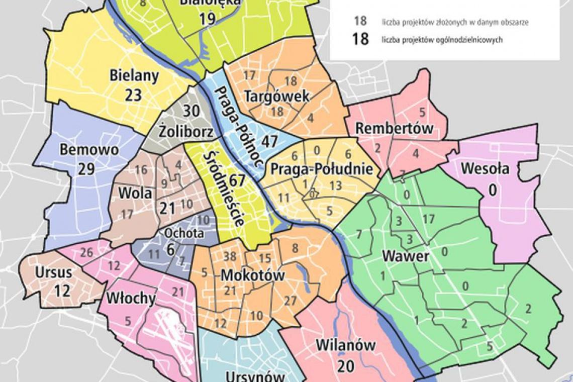 Mieszkańcy Warszawy chcą więcej czasu na zgłaszanie projektów do budżetu partycypacyjnego