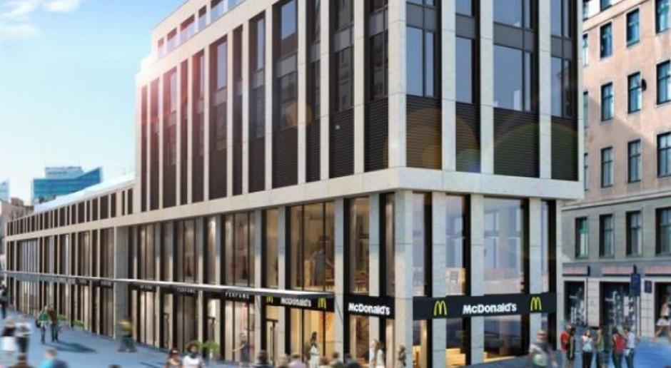Projekt Półwiejska 2 z restauracją McDonald's