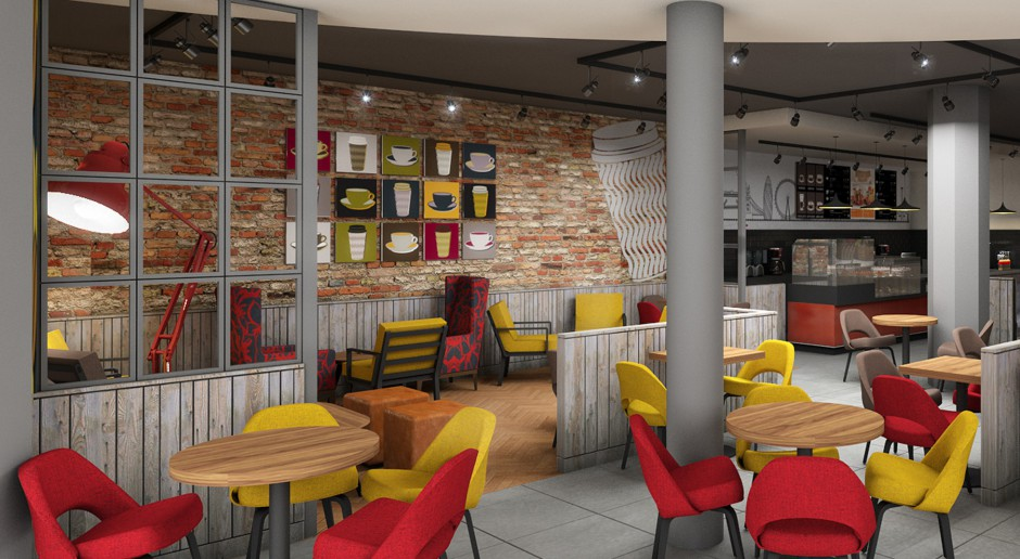 Stiff+Trevillon odpowiada za nowy design kawiarni Costa Coffee