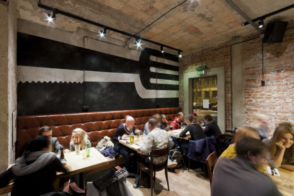 Aioli -  jedna z najpopularniejszych restauracji w Warszawie wg projektu A+D