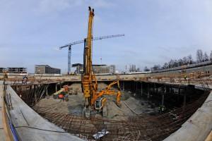 Biurowiec Royal Wilanów - trwają prace na budowie kondygnacji podziemnych