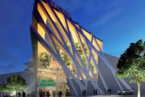 Oryginalne wejście powstaje przy galerii Zielone Arkady