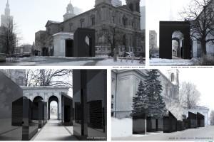 Wielka wstęga na placu Grzybowskim - to pomnik dla Polaków