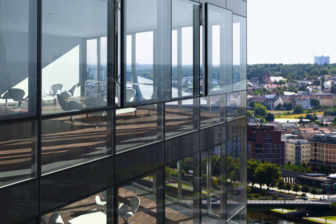 Efektywny atrybut szklanej architektury