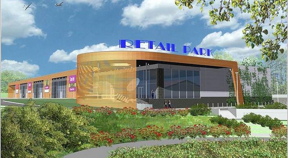 Trwa budowa retail parku autorstwa Gronner & Rączka Architekci