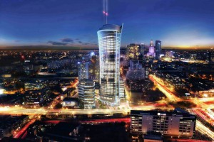 Warsaw Spire przyspiesza - powstaje pierwsza elewacja