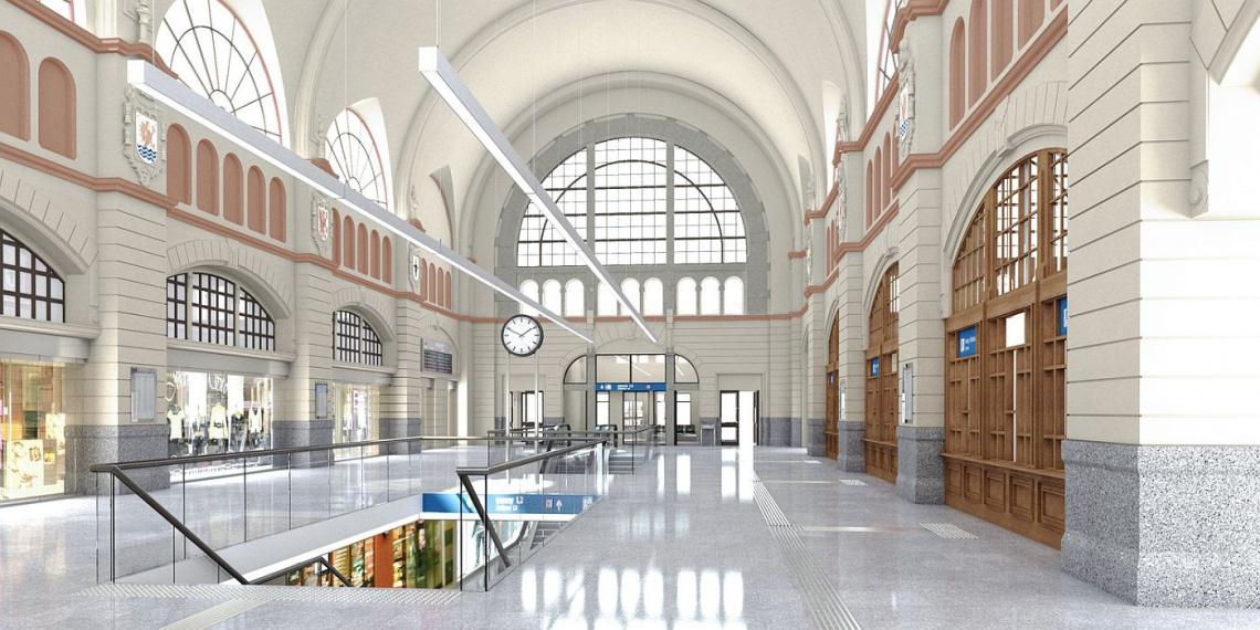 Nowy dworzec Gdańsk Główny z biurowcem od Epstein