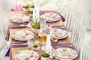 Rustykalne wzory designerskiej porcelany