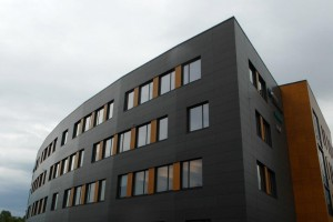 Stylowa elewacja od skandynawskich architektów
