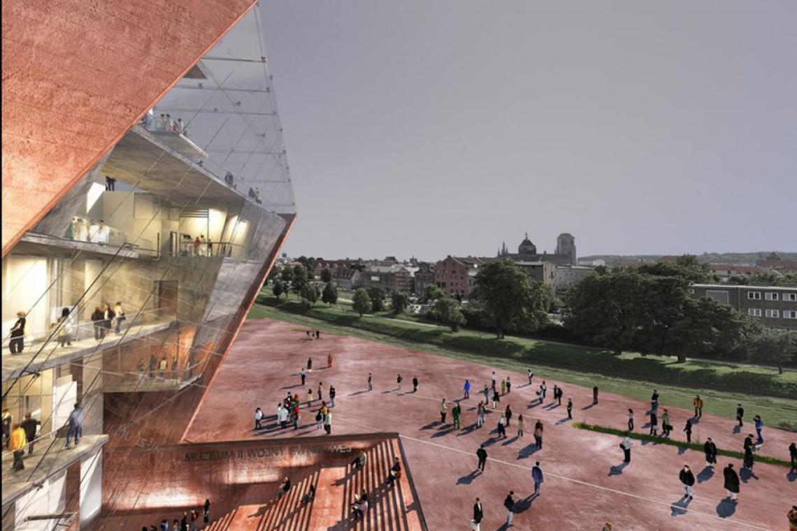 Muzeum II Wojny Światowej jeszcze w budowie, a już robi wrażenie