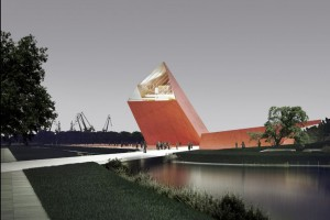 Lada dzień budowa naziemnej części Muzeum II Wojny Światowej