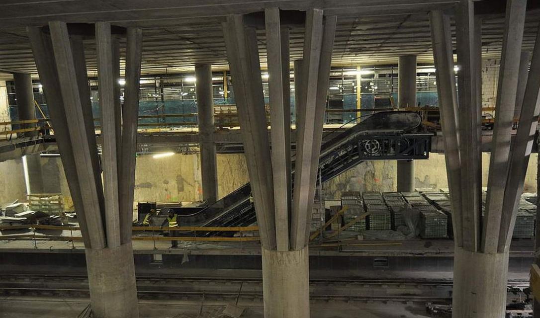 Zaawansowane prace na stacji Stadion Narodowy II linii metra