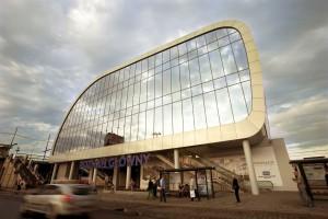 Dworzec Poznań Główny - oświetlenie robi wrażenie