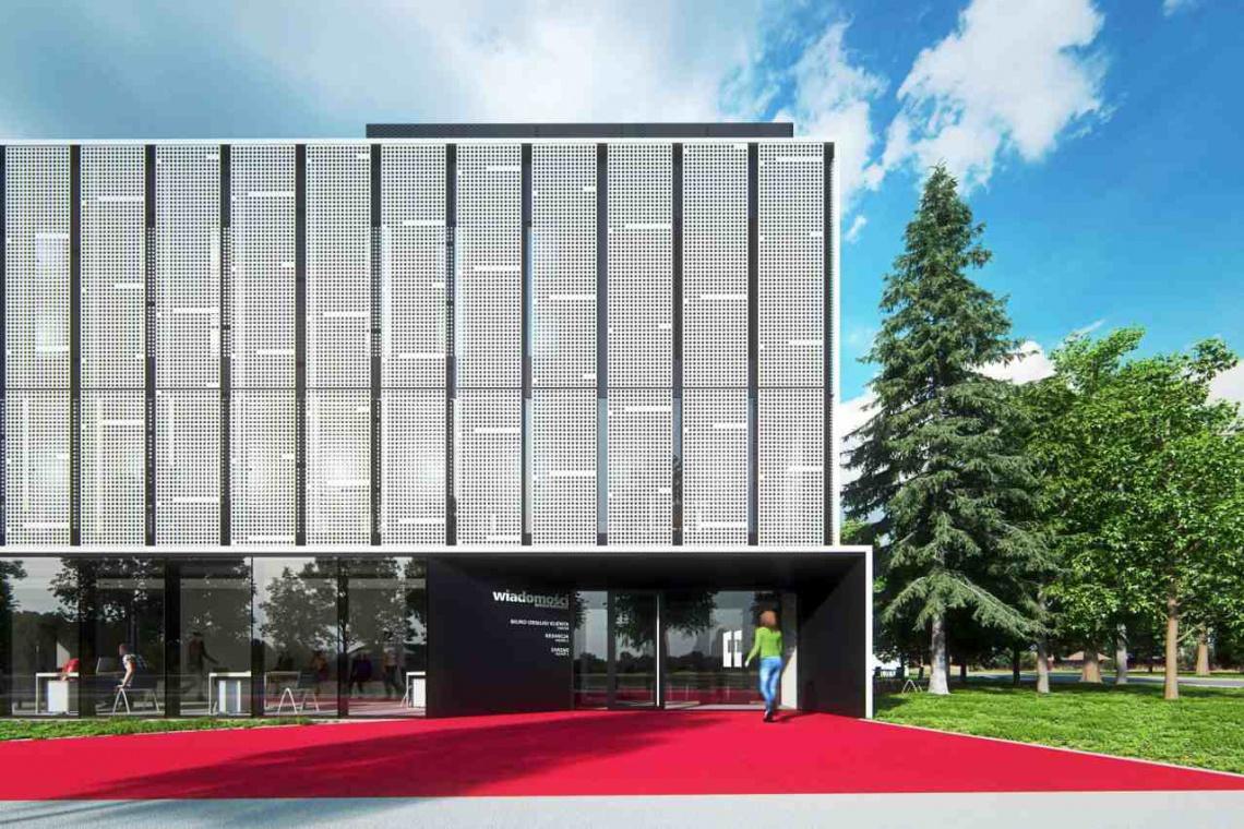 Inspiracją projektu Ultra Architects jest szpalta gazety