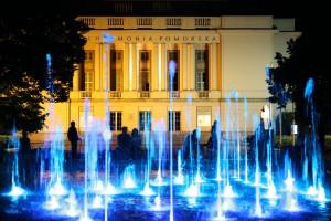 Kolorowe, tańczące fontanny ma także Bydgoszcz - wideo