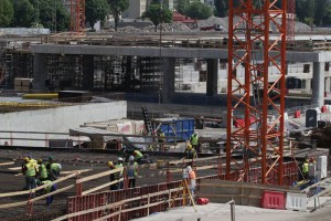 Najtrudniejsza część budowy dworca Łódź Fabryczna
