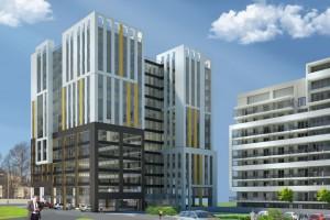 SkyRes Warszawska zaprojektowane przez 3D Architekci