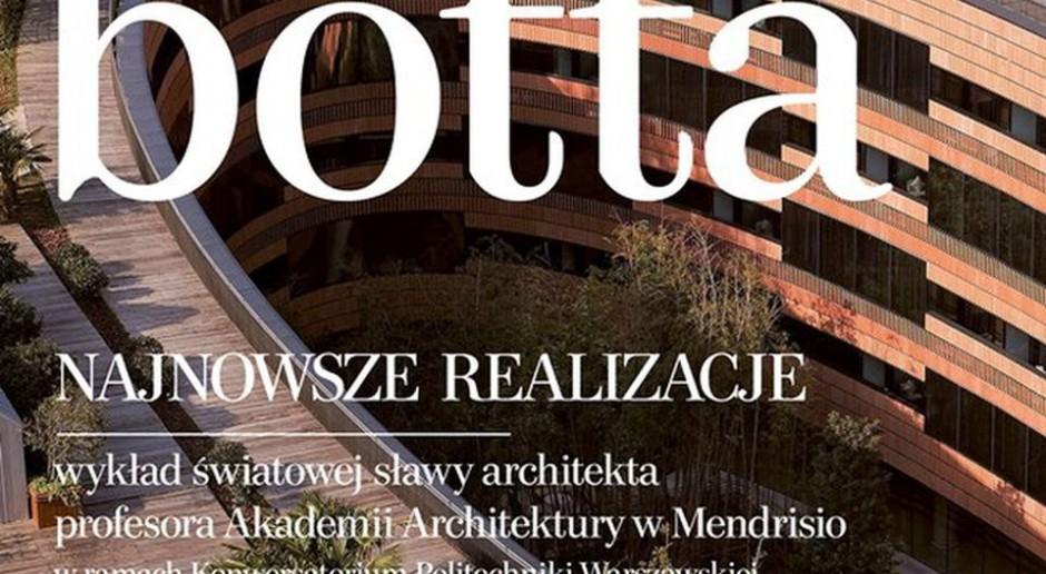 Wybitny architekt Mario Botta odwiedzi Warszawę