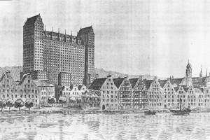 Zobacz wieżowiec, który miał powstać w 1920 r. w Gdańsku