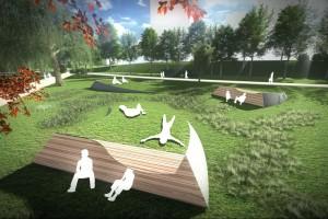 Oryginalny projekt skweru Sue Ryder wprowadzony w życie