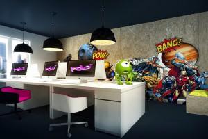 Biuro z charakterem od pracowni Osom