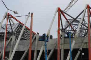 Zaawansowane prace na białostockim stadionie
