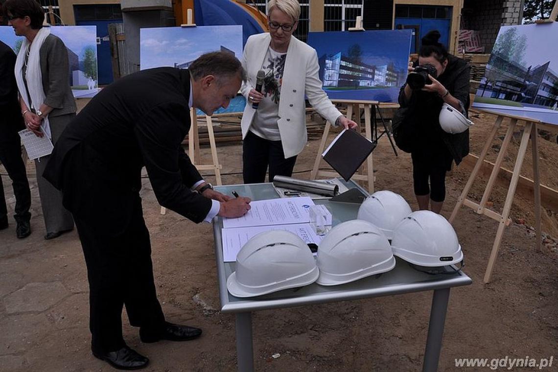 Nowa inwestycja w Gdyni: wmurowanie kamienia węgielnego