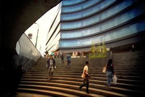 Największy budynek biurowy Skanska z kamieniem węgielnym