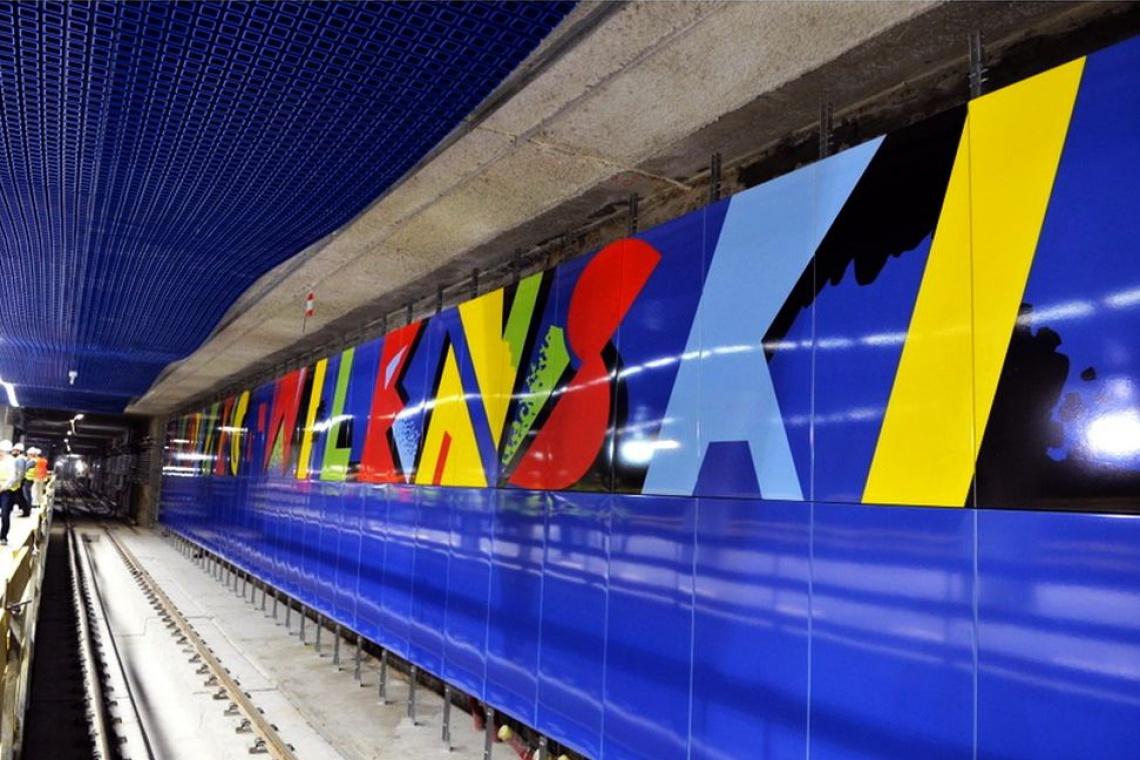 II linia metra: na stacji Dworzec Wileński jest niebiesko