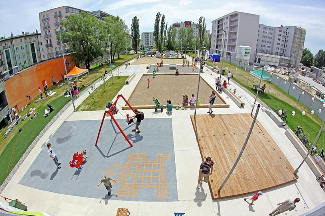 Gotowa Aleja Sportów Miejskich na warszawskim Bemowie