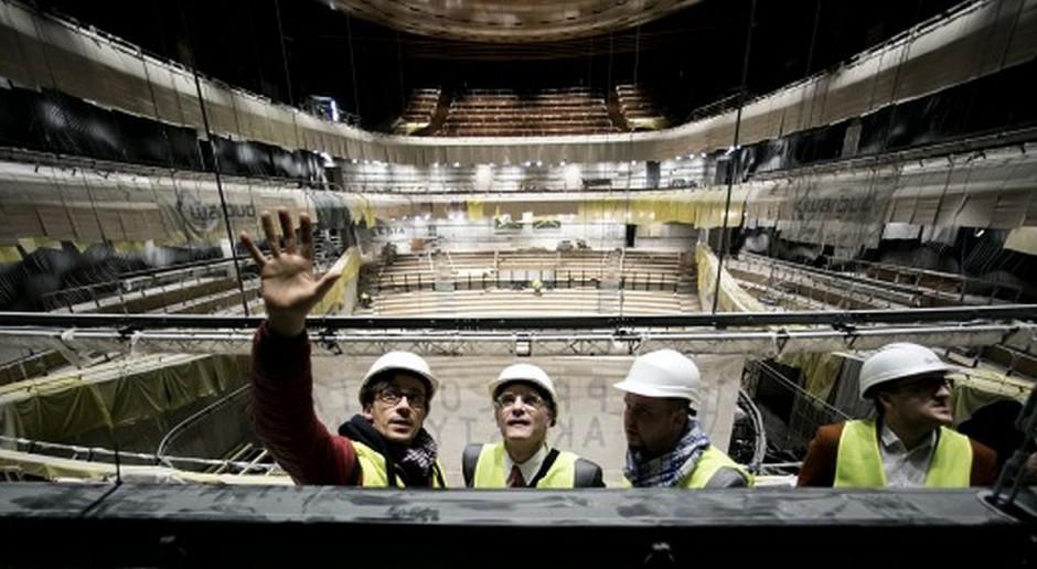 Wizyty architektów i specjalistów na budowie NOSPR w Katowicach