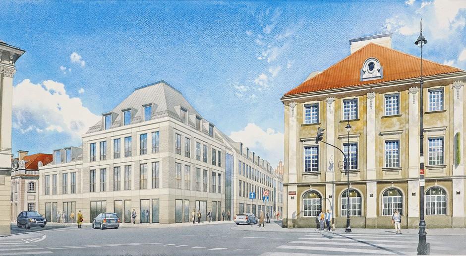 Biurowiec przy Placu Zamkowym – Business with Heritage zgodnie z planem