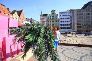 Plaża na placu Solnym we Wrocławiu