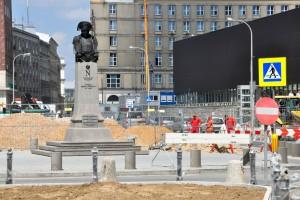 Widać już nową geometrię Placu Powstańców Warszawy