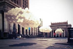 Chmurodrom, czyli defilująca chmura na Placu Defilad