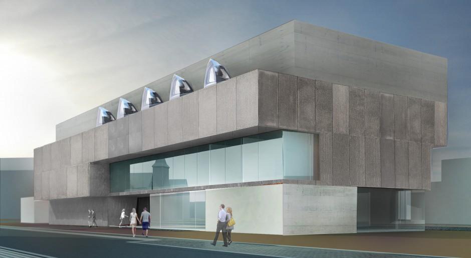 Politechnika Wrocławska z nowoczesnym budynkiem archiwum