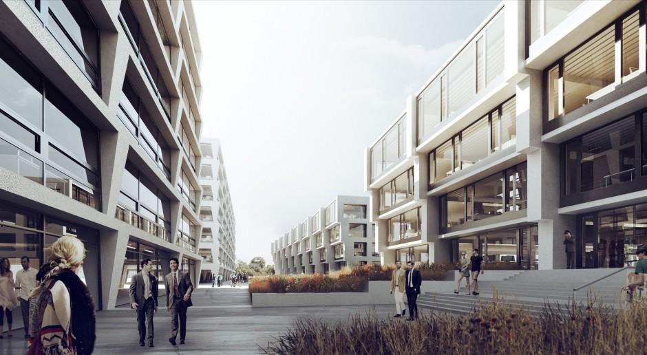 Kompleks biurowy P4 projektu JEMS Architekci na warszawskim Służewcu