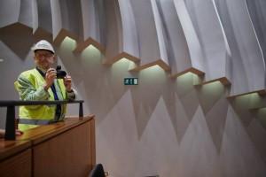 Najnowsze zdjęcia z budowy NOSPR. W tle wizyta krytyka architektury