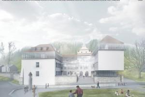 Kiedyś zniszczony, wkrótce odbudowany kompleks szkolny w Kazimierzu Dolnym