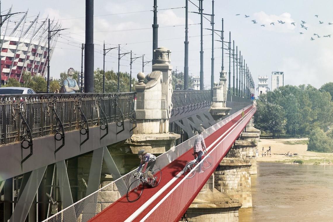 Oryginalny projekt kładki rowerowej dla Mostu Poniatowskiego