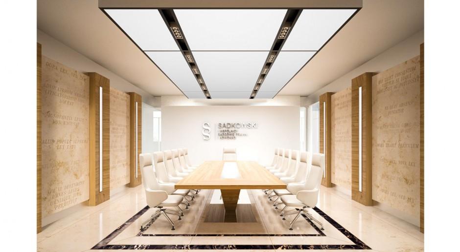 Projekt biura dla kancelarii prawnej według PIK Studio