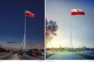 Maszt Wolności w Warszawie według projektu JSK Architekci