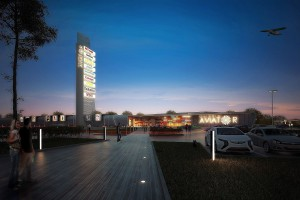 Galeria Aviator projektu SooN architekci z pozwoleniem na budowę