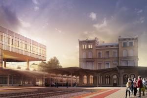 Dworzec Bydgoszcz Główna z wiechą