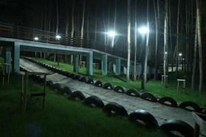 Tor saneczkowy, mini amfiteatr i sztuczny potok w Mielcu