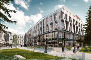 Biurowiec Tensor według Degutis Studio z pozwoleniem na budowę