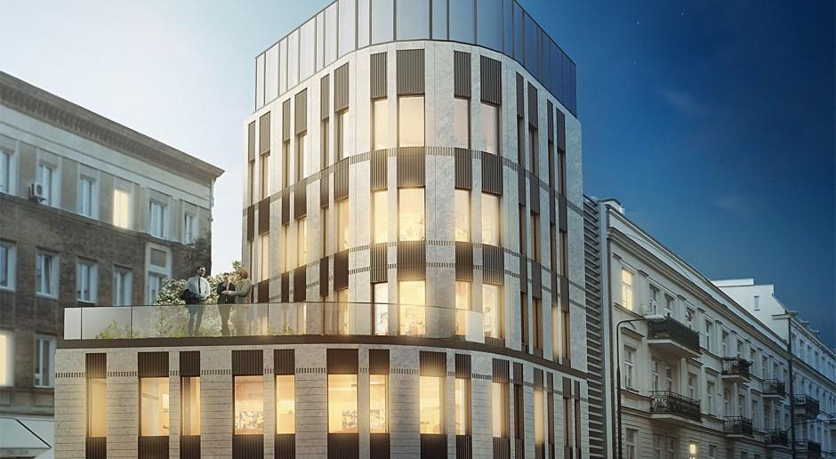 Zbliża się budowa biurowca Kopernika 21 projektu Grupa 5 Architekci